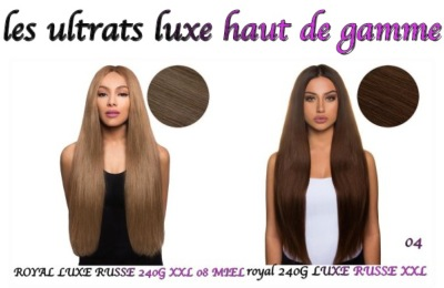 extension a clips  RUSSE ROYAL le plus haut de gamme