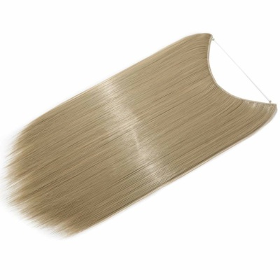 Extension Cheveux Fils Transparant a enfiler blond claire cendré 120G